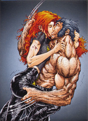 Wolverine Comic Books on Jean Grey Kissing Wolverine Posters Jpg